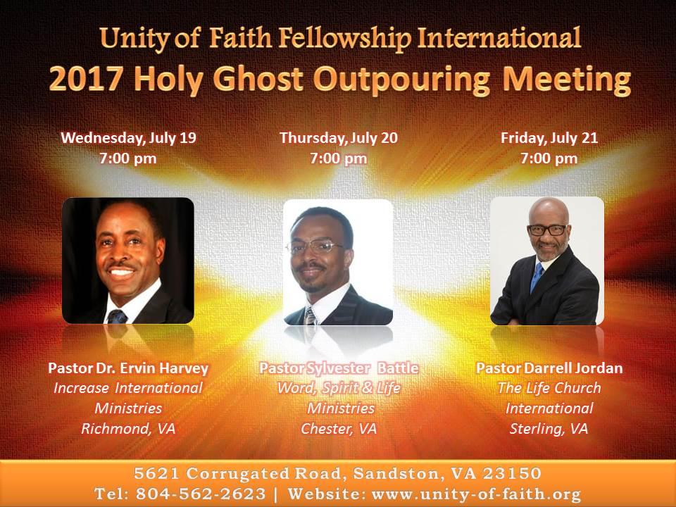 Holy Ghost Outpouring Meeting Unity Of Faith Fellowship