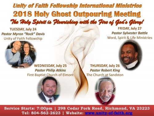 Holy Ghost Outpouring Meeting Pastor Robert King Unity